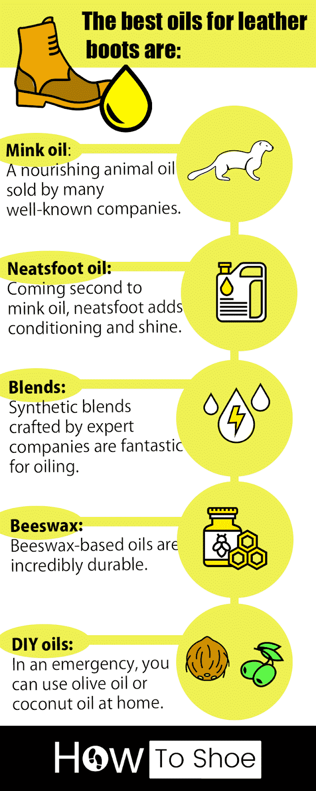 an infographic about boot oils