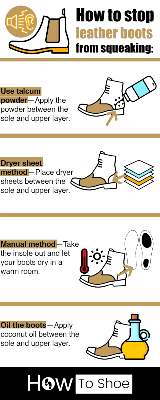 Stop Leather Boots From Squeaking