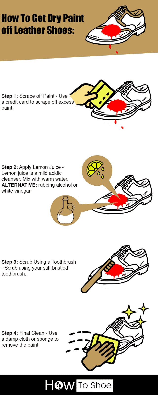 Get Paint off Leather Shoes