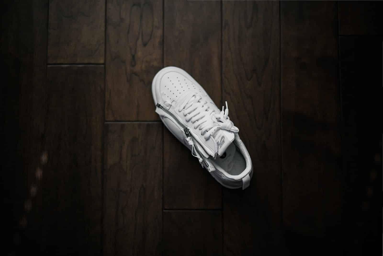 White Walking Shoes