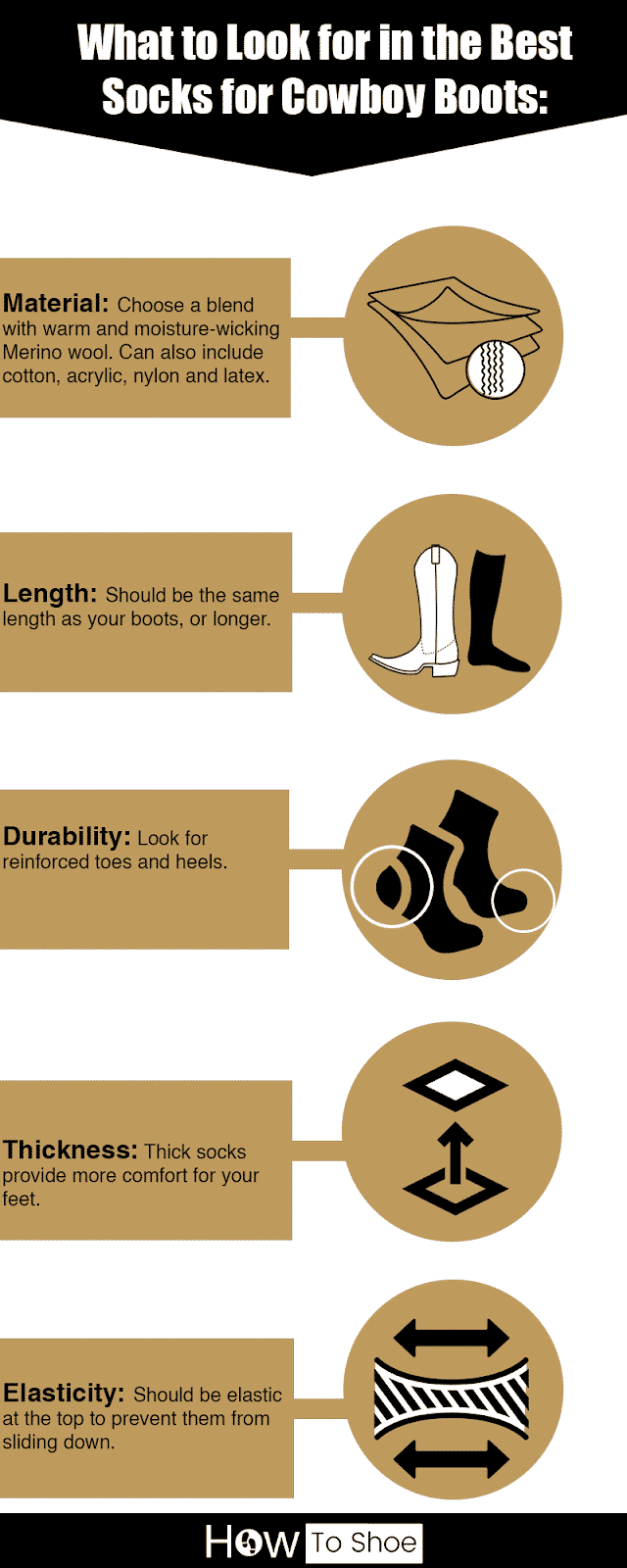 Best Socks for Cowboy Boots in 2021 infographic