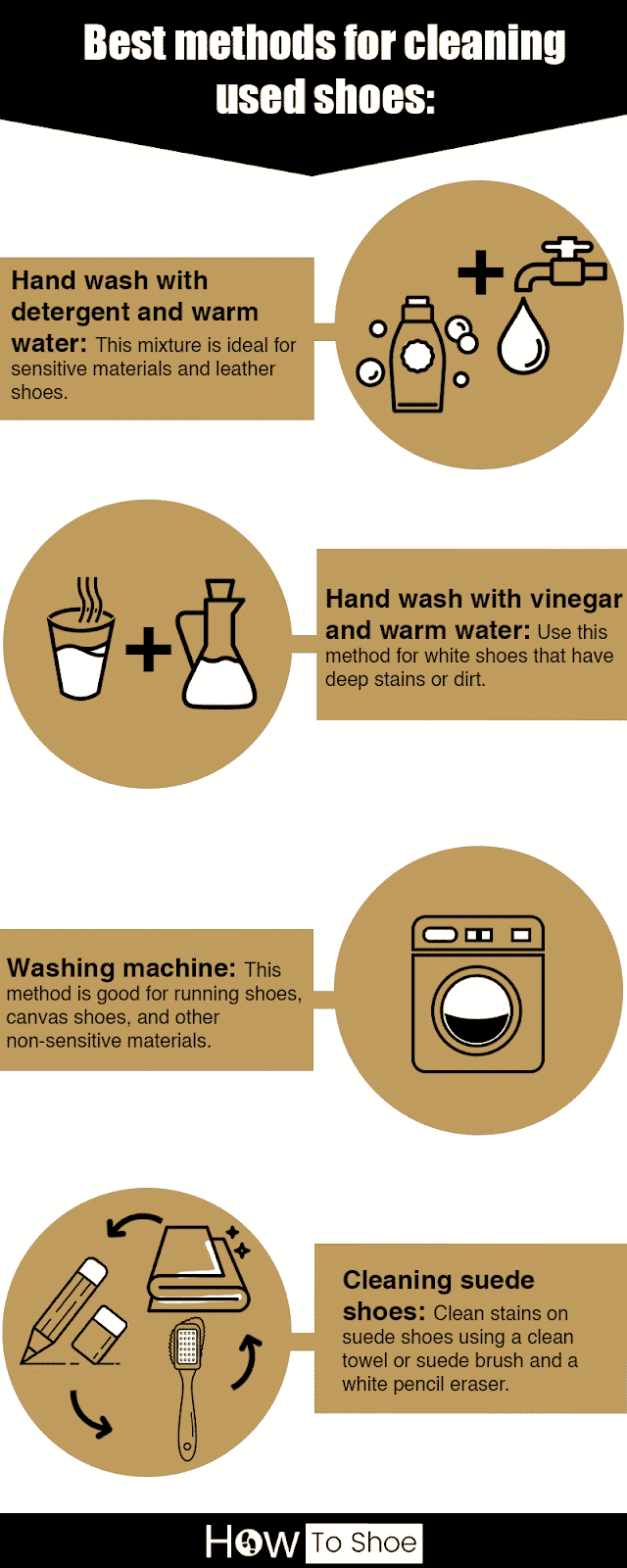 How to clean used shoes infographic
