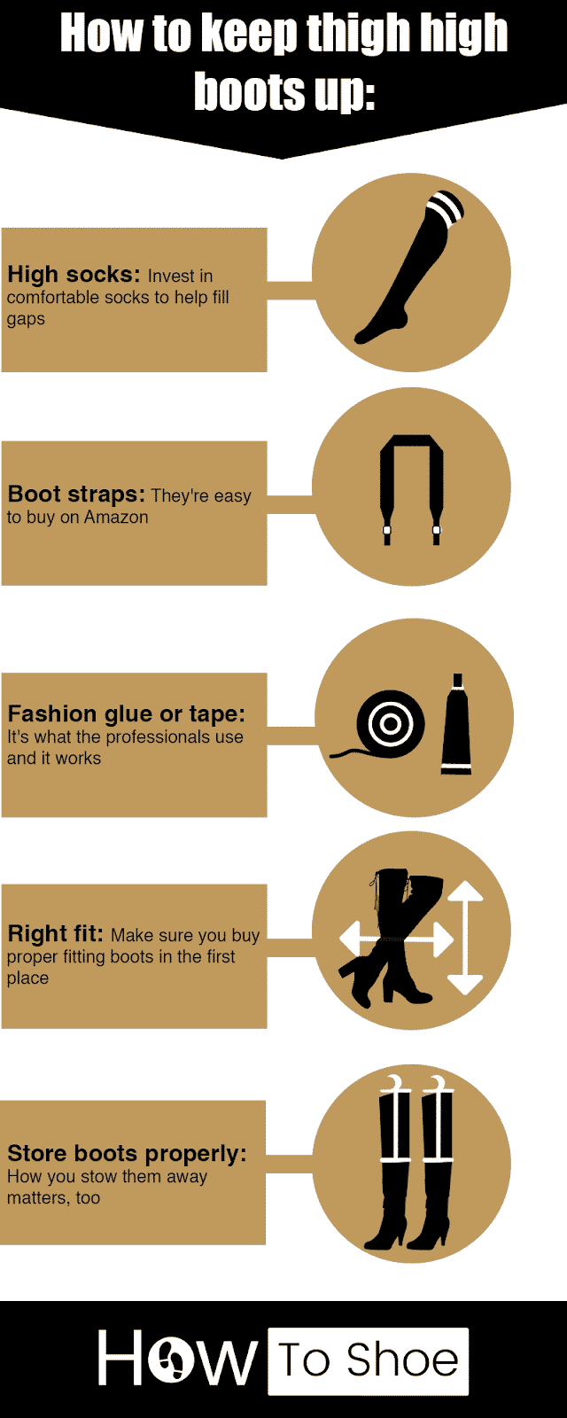 How to keep thigh high boots up