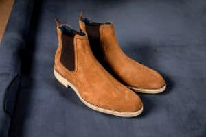 a brown chelsea boots