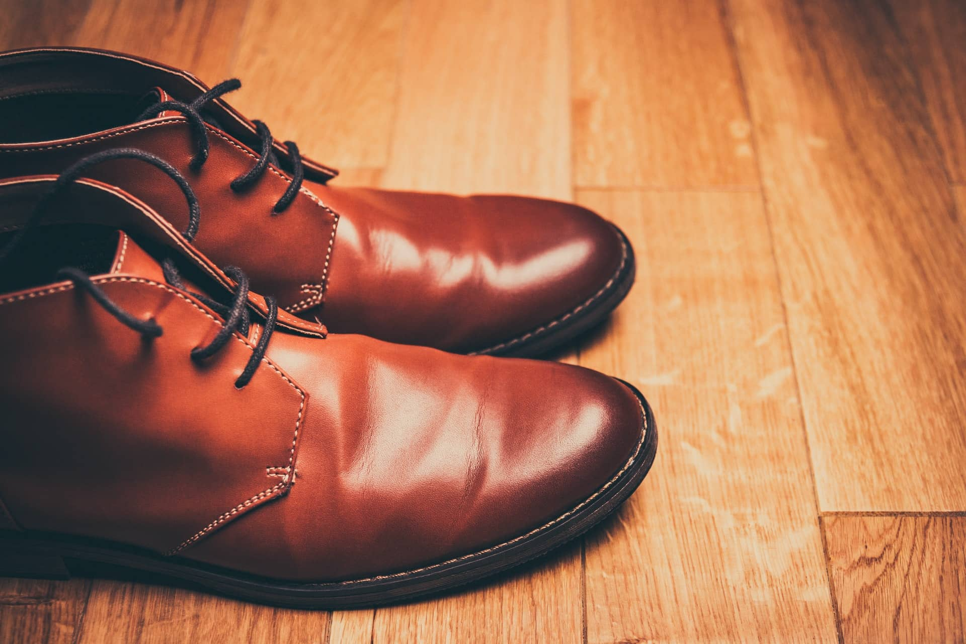 leather brown shoe